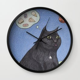 Peep in Space Wall Clock