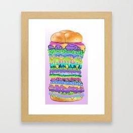 Hyper Burger Framed Art Print