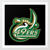 49ers Art Prints featuring NCAA - Charlotte 49ers by Katieb1013