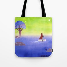 Crossing The Lake Tote Bag
