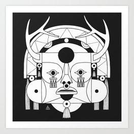 Lost Mask III Art Print