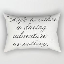 Helen Keller quote Rectangular Pillow