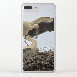 Storks in a Nest Clear iPhone Case