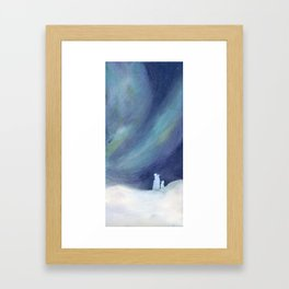 Polar bears and boreal dawn Framed Art Print