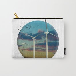 Wind Turbines Painted Sky Carry-All Pouch