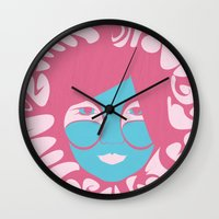 bjork Wall Clocks featuring Bjork: All is Full of Love by Strong Odors