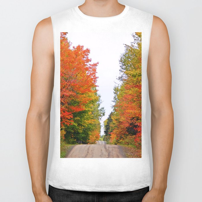 Rolling Through the Hills of Autumn Biker Tank