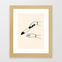 It wasn't Framed Art Print