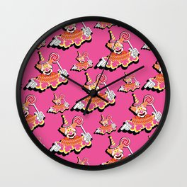 Retro Clown Wall Clock