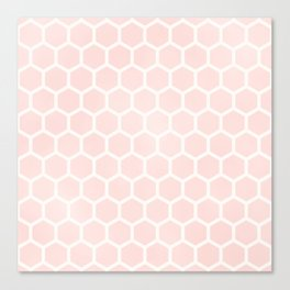 Pink Coral Honeycomb Canvas Print