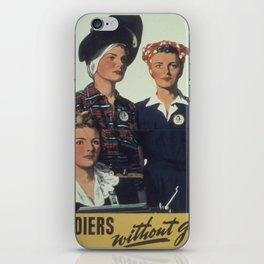 Vintage poster - Soldiers without guns iPhone Skin
