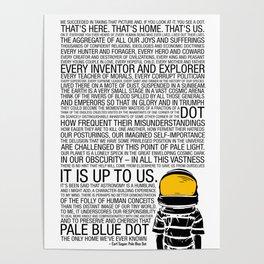 Pale Blue Dot: Carl Sagan Poster