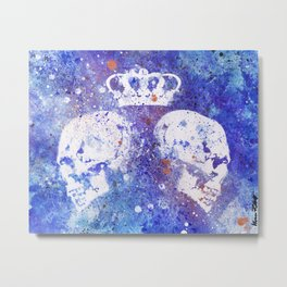 Queendom (spray paint graffiti art, crown with skulls) Metal Print