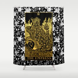 Floral Tarot Print - The Empress Shower Curtain