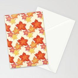 Autumn Pattern Design Stationery Cards