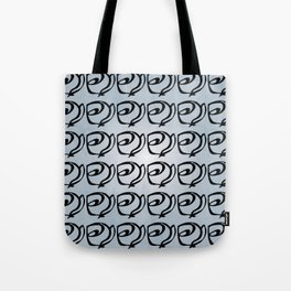 Rows of Flowers, Sky Tote Bag