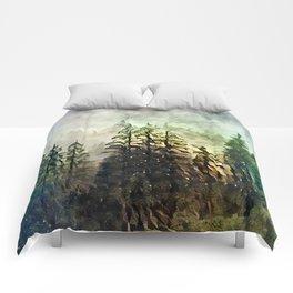 Tree's in the mist Comforters