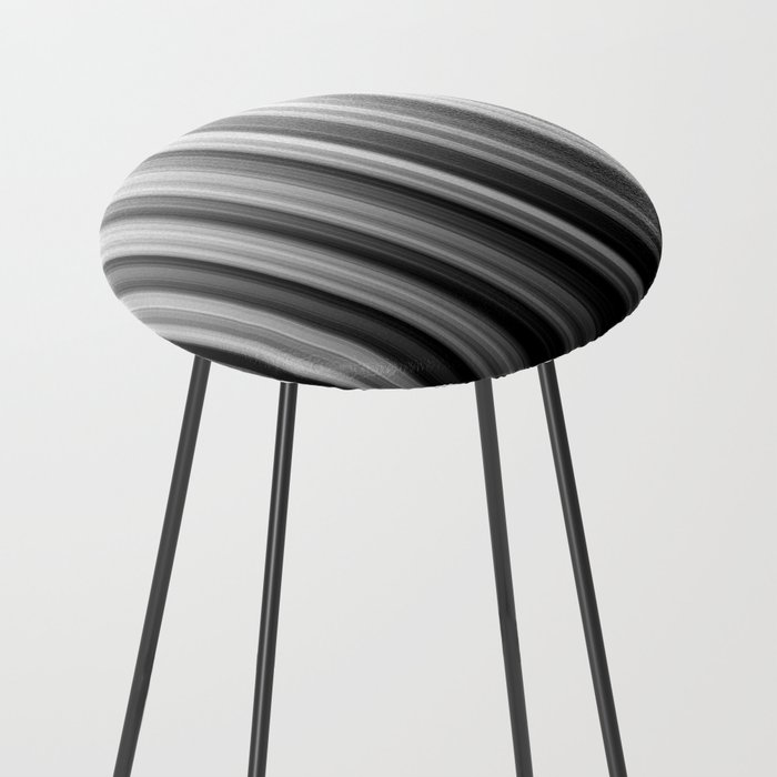 Black And White Soft Blurred Vertical Lines - Ombre Abstract Blurred Design Counter Stool
