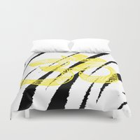 om Duvet Covers featuring OM by Rebecca Bear