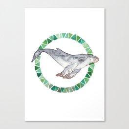 52 hertz//the loneliest whale Canvas Print