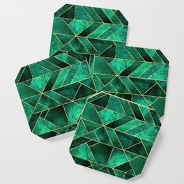 Abstract Nature - Emerald Green Coaster