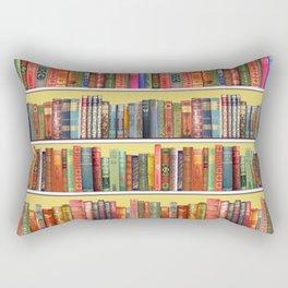 Christmas books antique vintage library Rectangular Pillow