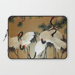 Colorful Painting of egrets Laptop Sleeve