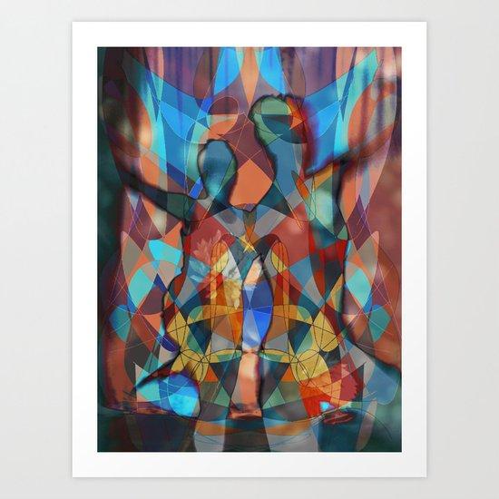 Dancer Trio number 3 Art Print