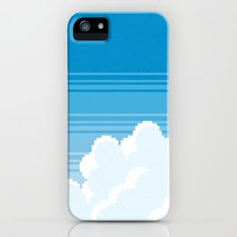 pixel clouds-freeway drive iPhone Case