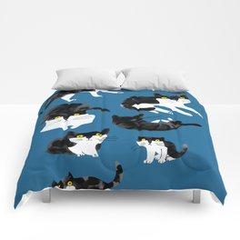 cat study Comforters
