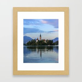 Lovely Lake Bled Framed Art Print