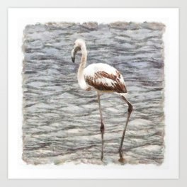 Find Your Footing And Stand Firm Watercolor Art Print