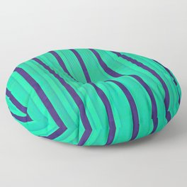 Green Mint and Stripes Floor Pillow