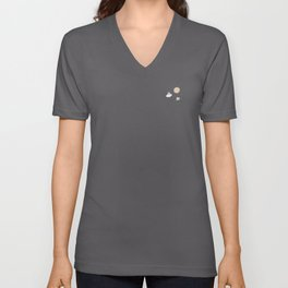 Bunnies on the Moon (Patterns Please) Unisex V-Neck