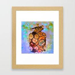 bubble up Framed Art Print