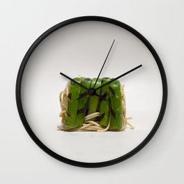 Asparagus noodle lunchbox Wall Clock