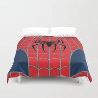 spider man Duvet Covers featuring Spider-Man by C.Rhodes Design