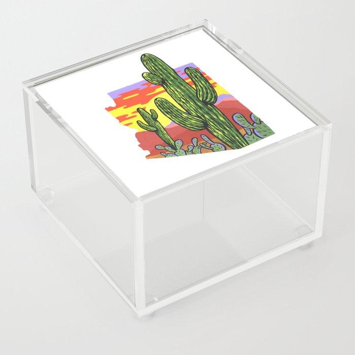 Arizona Saguaro Sunset Acrylic Box