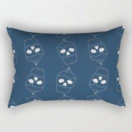 Skullcakes on blue Rectangular Pillow