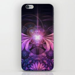 A Glowmoth of Resplendent Violet Feathered Wings iPhone Skin