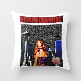 Nympho Throw Pillow