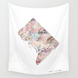 District of columbia map Portrait Wall Tapestry