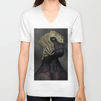 ripley V-neck T-shirts featuring Ripley by Lowri W. Williams