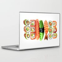 nori Laptop & iPad Skins featuring Sushi by Sam Luotonen
