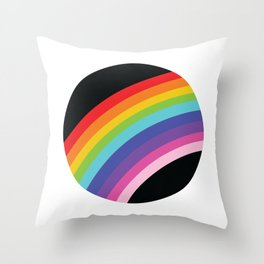 Circular Rainbow Throw Pillow