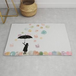 Colorful snow in Winter Rug