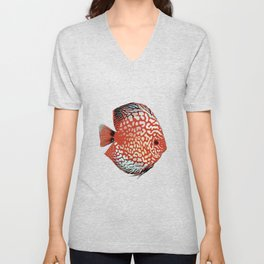 Discus Discusfish Aquarium Cichlid Unisex V-Neck