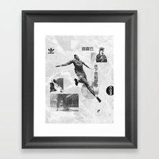 Didier Drogba Underwater Highlight Tape DVD-RW Framed Art Print