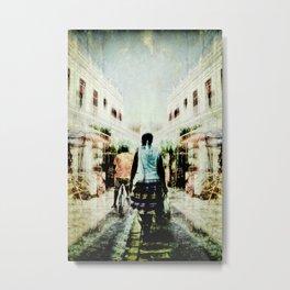 Cuba Street Stroll Metal Print