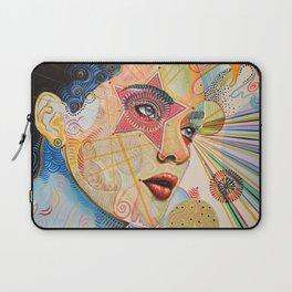 Abstract Art Female Women Portrait Painting ...Honestly Speaking Laptop Sleeve